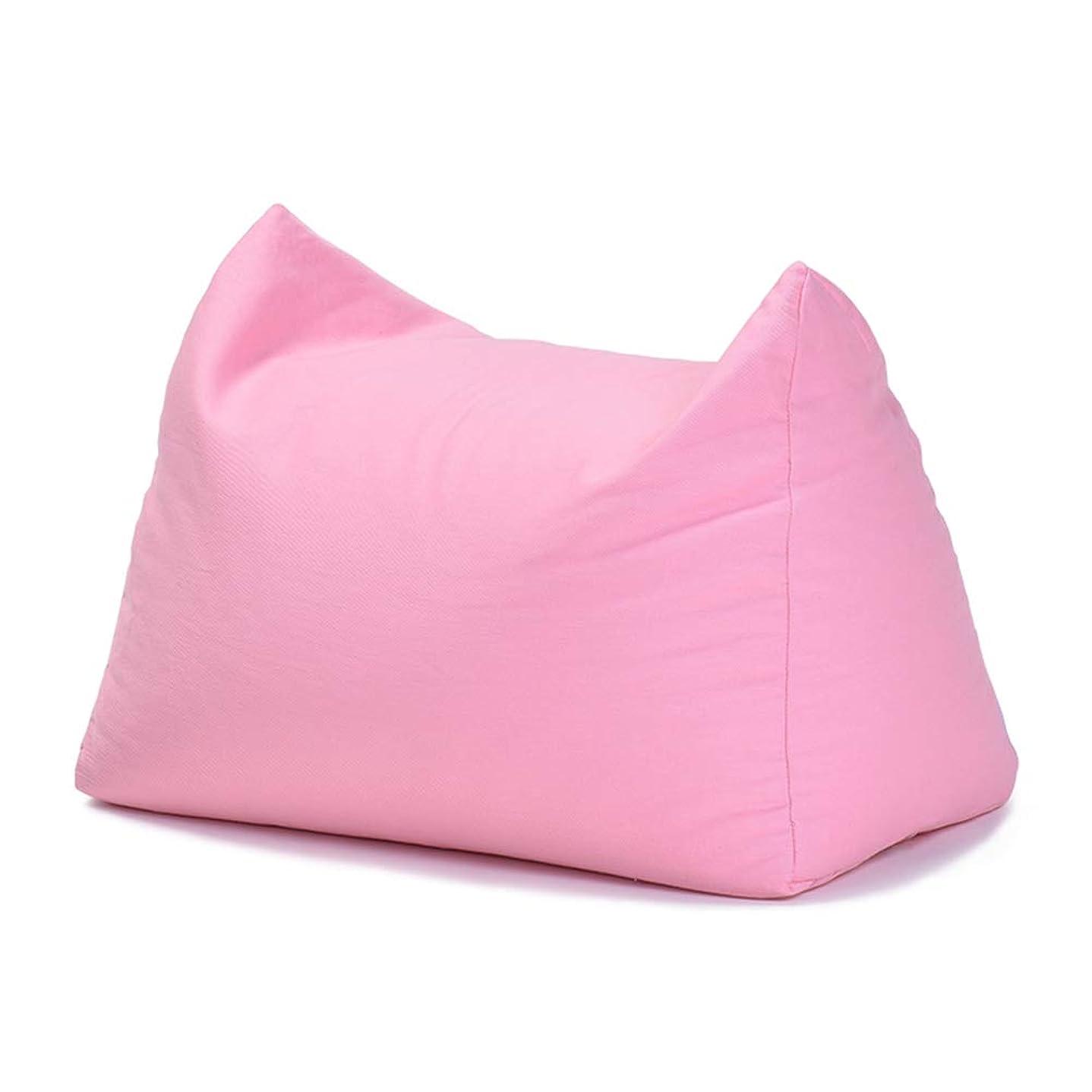 ブレークスパン詩CAIJUN フットスツール? 怠惰なソファ 綿布 多機能 ポータブル 環境を守ること 余暇 屋内 贈り物、 9色 (色 : ピンク, サイズ さいず : 58x30x40cm)