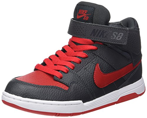 Nike Mogan Mid 2 Jr B, Scarpe da Skateboard Uomo, Grigio (Anthracite/University Red), 38 EU
