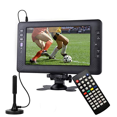 Televisor portátil, sintonizador Digital DVB-T2, con batería Recargable, Suit for Europe Country, Puede Ver el Programa de TV en Interiores o Exteriores
