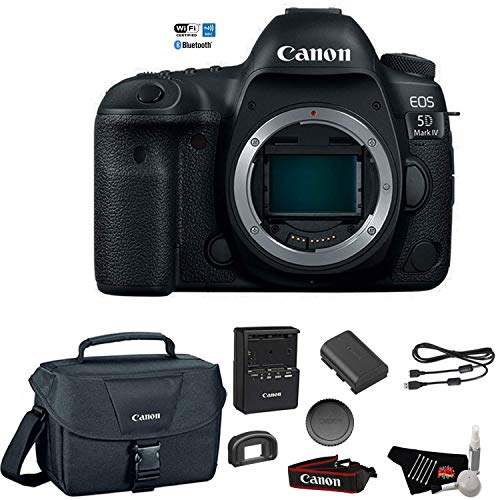 Canon EOS 5D Mark IV Full Frame Digital SLR Camera Body - Bundle with Canon Carrying Bag + Cleaning Kit (International Version)