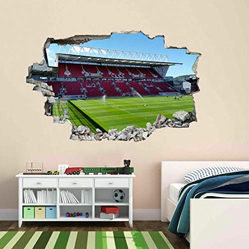 3D Effect Wall Sticker Breakthrough Self-Adhesive Football Stadium 20x27inch(50x70cm) DIY for Living Room Decoration