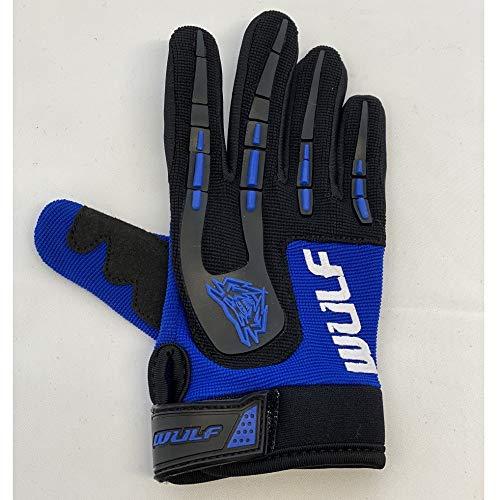Wulfsport Kids Children Attack Motocross Motorbike Gloves Junior Off Eoad Trials Mountain Bike - Blue XS