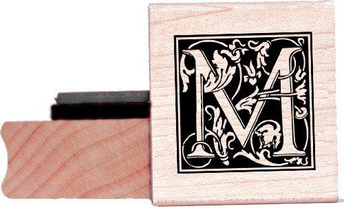 Tampon en caoutchouc alphabet - Lettre M à la William Morris