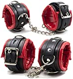 Halloween Costume Cosplay Props Soft Fur Leather Adjustable Handcuffs (Style 1)