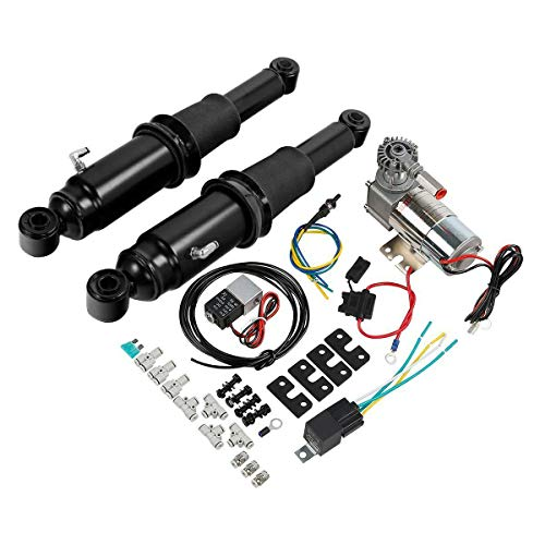 SLMOTO Air Ride Suspension Kit Fit for Fit for Harley Touring Road King Glide 1994-2020 2019 Electra Glide Road King Street Glide Ultra Limited