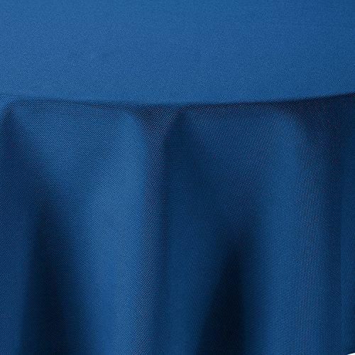 Leinen Optik Tischdecke Rund 140 cm Blau · Rund Farbe & Größe wählbar mit Lotus Effekt - Wasserabweisend