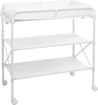 HANSHAN Changing Table Changing Table Care Table Can Foldable IKEA Portable Multi-function Baby Shower Table White 0-3 Years Old  32-39  Inch