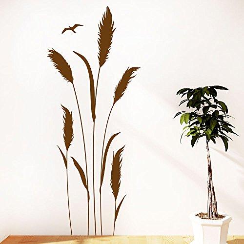 KLEBEHELD® Wandtattoo Gräser | Grashalme | Pflanze Größe 38x90cm, Farbe schwarz