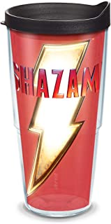 Tervis Warner Brothers - Shazam Crest Insulated Tumbler with Wrap and Lid, 24 oz, Clear