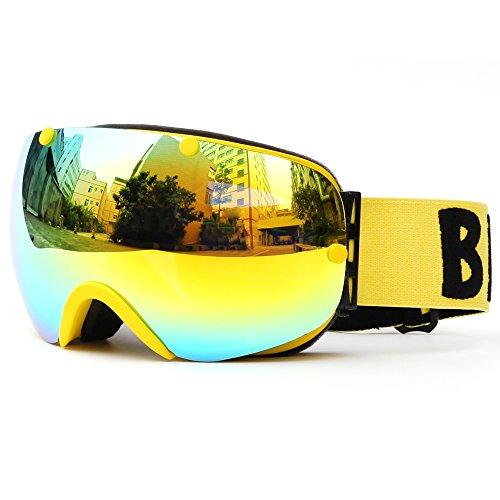 Lixada - Occhiali da Sci/Snowboard da Uomo e Donna con Lenti sferiche Rimovibili, Protezione UV400