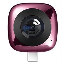 Surveillance Recorder 360 Degree Video Camera 360 Camera Lens Hd 3D Live Sports Camera360 Pink