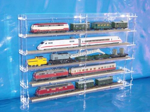 Setzkasten für H0 Modelleisenbahn aus Acrylglas SL010 Rückwand Transparent