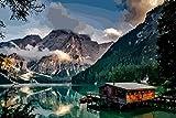 YANCONG 1000 Piece Wooden Jigsaw Puzzles Lago Bres En Las Montañas Tirolesas, Italia Rompecabezas De Madera 75X50Cm