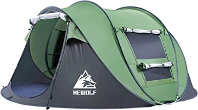 3-4 Person Instant Camping Tent-Pop-Up Hewolf Family Tent Easy Set Up-Great for Camping, Backpacking, Hiking & Outdoor Mus...