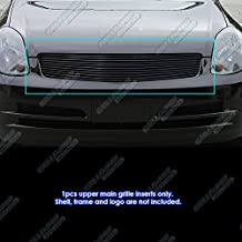 APS Compatible with 2003-2004 Infiniti G35 Sedan Black Billet Grille Grill Inserts S18-H00658N