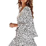 Charm4you Falda de Mujer Falda de Tul,2021 Verano Nueva Falda Corta con Estampado de Puntos-Blanco y Negro_XL #,Falda Mujer Elástica Plisada