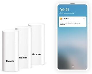 Netatmo Smarta Dörr- och Fönsterdetektorer, trådlösa, monoblock, vibrationsdetektering, set om tre, DTG-EC