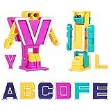 Alfabeto Robot Set De Juguetes, Deformación Letras para 2-6 Años Niños Kids ABC Learning/Educación Preescolar Cumpleaños Navidad Regalos 26 Piezas