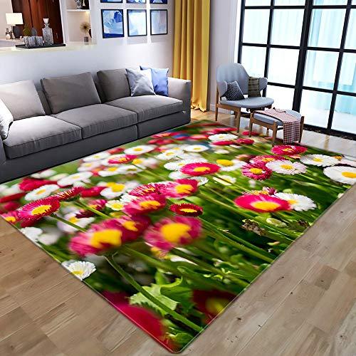 Tapis,Belle 3D Fleur Paysage Zone d