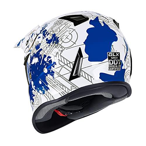 Product Image 4: GLX Unisex-Child GX623 DOT Kids Youth ATV Off-Road Dirt Bike Motocross Helmet Gear Combo Gloves Goggles