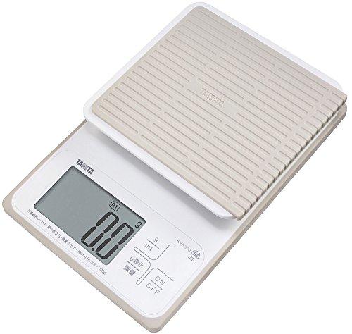 タニタ クッキングスケール キッチン はかり 料理 防水 デジタル 3kg 0.1g単位 KW-320 WH 洗えるキッチンスケール