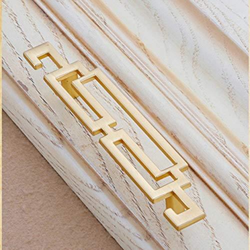 Shenykan 6909 Manija de la Perilla de la Puerta Cajón del Vino Gabinete de Zapatos Chino Antiguo Herramientas de Mejora del hogar Manija de la Perilla de la Puerta para Muebles - Cobre