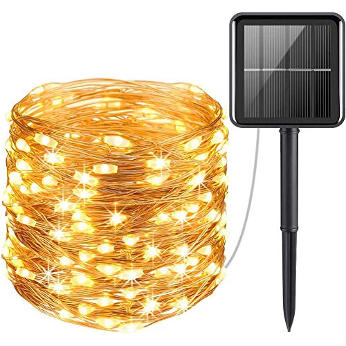 Upgraded Solar Powered String Lights,Mini 100 LED Solar Lights,Indoor Outdoor Waterproof Garden Light For Home Party Christmas Q 100 Led
