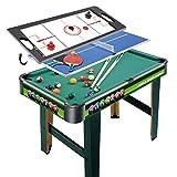 ZXQZ Juego de Mesa de Juego de Competición Multi Arcade 3 En 1, con Billar, Tenis de Mesa, Hockey de Aire, para Sala de Juegos de Deportes de Ocio Mini mesas de Billar