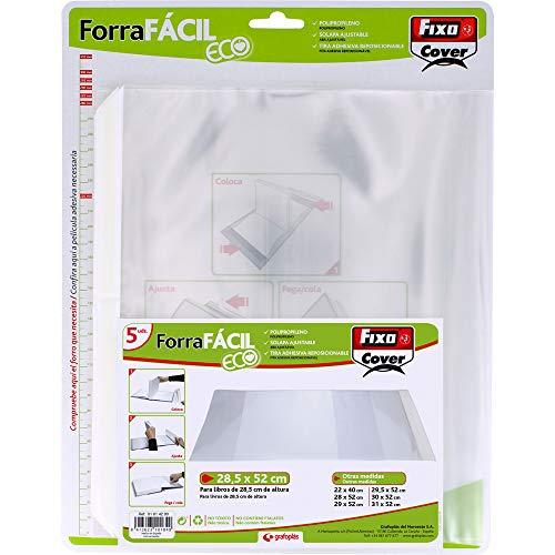 Fixo Cover 01014200-Paquete de 5 Forra Fácil Eco con solapa ajustable de 285 x 520 mm