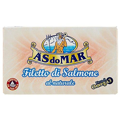 Asdomar - Filetto di Salmone al Naturale, Ricco di Omega 3 - 115 g