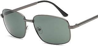 DishyKooker Men Fashion Metal Square UV400 All-macth Anti-uv Polarized Driving Sunglasses