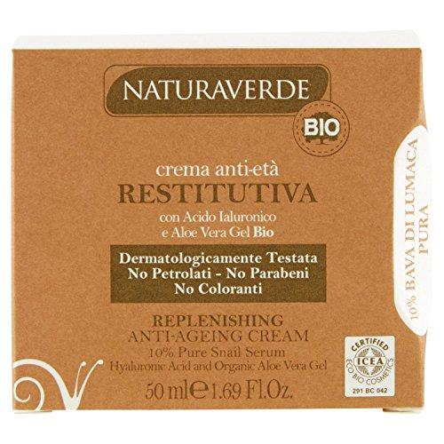 NATURAVERDE Crème pour le visage bave anti-âge organique escargot 50 ml.
