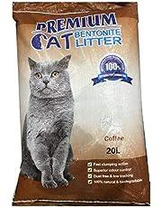 Premium Cat Bentonite Litter 20L Coffee