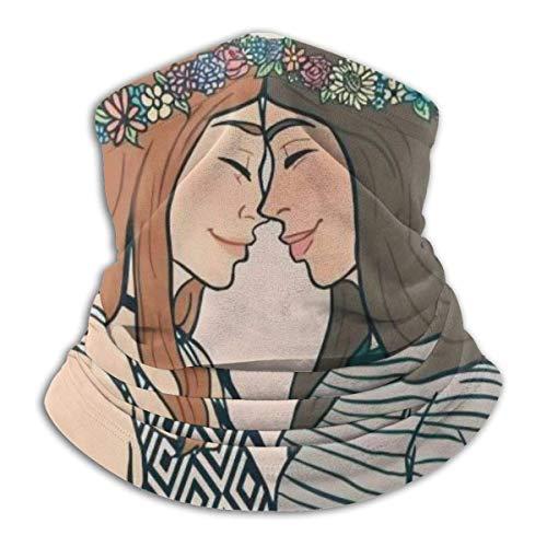 Lawenp Donne Lesbiche Love Girl Pride Unisex Adulto Scaldacollo Scaldacollo Sciarpa antivento Polvere Sport Sciarpa per il viso Mezzo passamontagna Sciarpa da sci All'aperto Bandana per il freddo Do