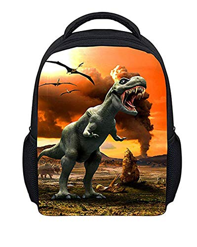 Moolecole Unisex 3D Tiere Print Daypack Dinosaurier Kinderrucksack für Kinder Rucksack-Jungen-Mädchen-Kleinkind Kindergartentasche