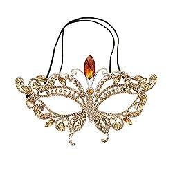 Style-8 Bridal Full Rhinestone Crystal Fancy Masquerade Eye Mask