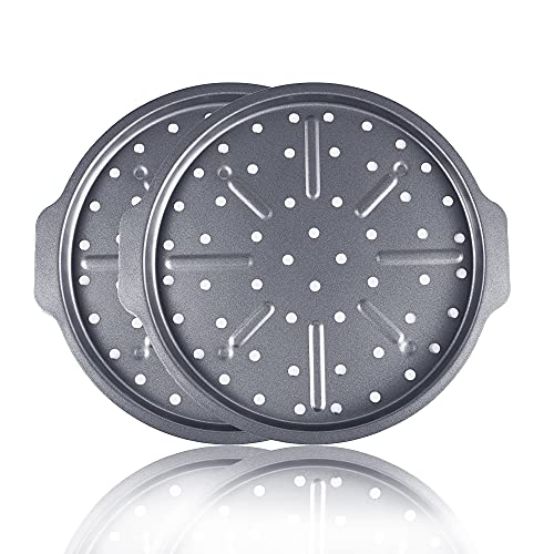 2 Pack Pizza Pan with Holes 12 Inch