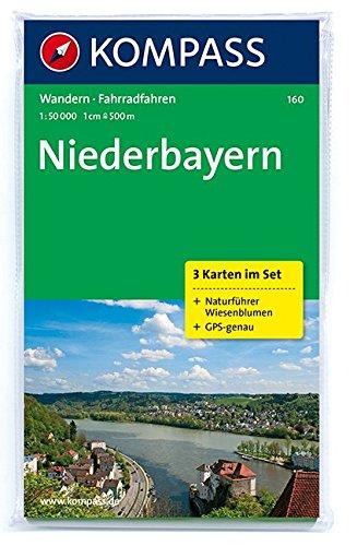 Niederbayern: Wanderkarten-Set mit Radrouten und Naturführer. GPS-genau. 1:50000: 3-delige Wandelkaart 1:50 000 (KOMPASS-Wanderkarten, Band 160)