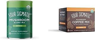 Four Sigmatic Mushroom Blend, 10 Mushroom Blend Mix with Lion's Mane, Reishi, 30 Servings & Mashroom Instant Coffee, Organ...