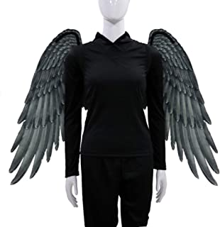 Leezo Tela no Tejida Alas de ángel 3D Fiesta temática de Halloween Cosplay Accesorios para Adultos Hombres Mujeres