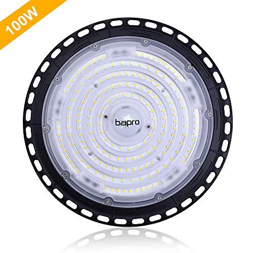 100W Proiettore Faretto LED Lampada da officina faro UFO esterno,fari led da esterno,lampada da magazzino 6500K luce diurna ad alta luce industriale a magazzino plafoniera LED commerciale