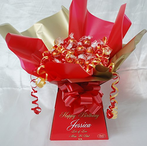 Personalised Lindt Lindor Chocolate Sweet Bouquet Bouquet Hamper - Personalised