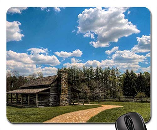 BGLKCS Lovely Wooden Cabin in The Backwoods Mouse Pad, Mousepad (Houses Mouse Pad)