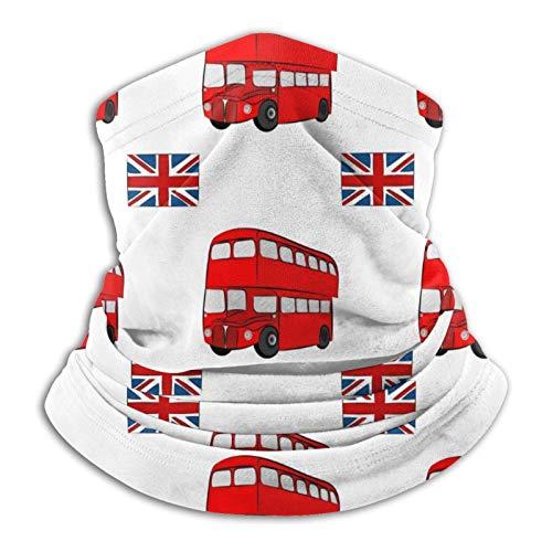 Coodream Pañuelo de microfibra para el cuello de autobús turístico de Londres para el frío, para...