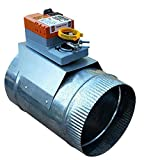Zone Damper 6' Round Professional-Grade (HVAC Zoning) - Preminum replacement for Honeywell, EWC, Durozone, more (06)