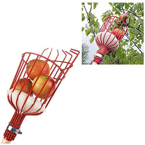 FLAIGO Corbeille à fruits avec sac pour ramasser les fruits du jardin, de la ferme, outil de ramassage pour ramasser des oranges, poires, pêche et plus encore pour éviter les ecchymoses 1 pièce