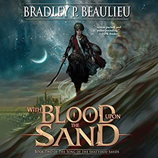 With Blood upon the Sand audiobook cover art