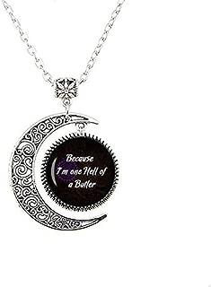 Black Butler Quote Sebastian Quote One Hell of a Butler Yana Toboso Black Butler Jewelry Kuroshitsuji Cosplay Moon Necklace Black Butler Moon Necklace