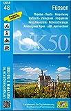 UK50-48 Füssen (Umgebungskarte 1:50000): Pfronten, Reutte, Nesselwang, Halblech, Steingaden, Forggensee, Neuschwanstein, Hohenschwangau, Ammergauer ... Karte Freizeitkarte Wanderkarte)