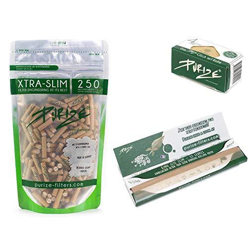 PURIZE® XTRA Slim Size Aktivkohlefilter SET (250er Spezial Set organic)